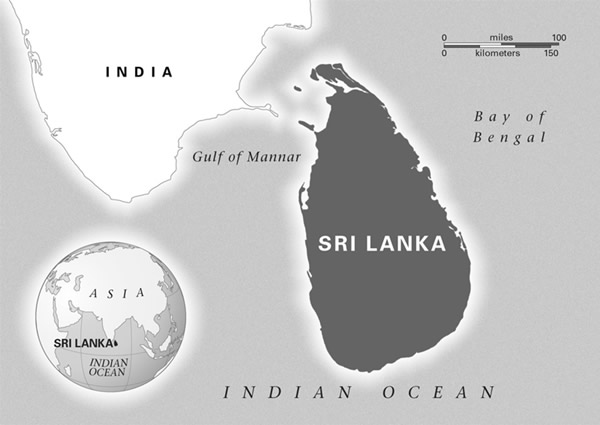 Sri Lanka Travel Guide Travellers Information - Where is sri lanka located