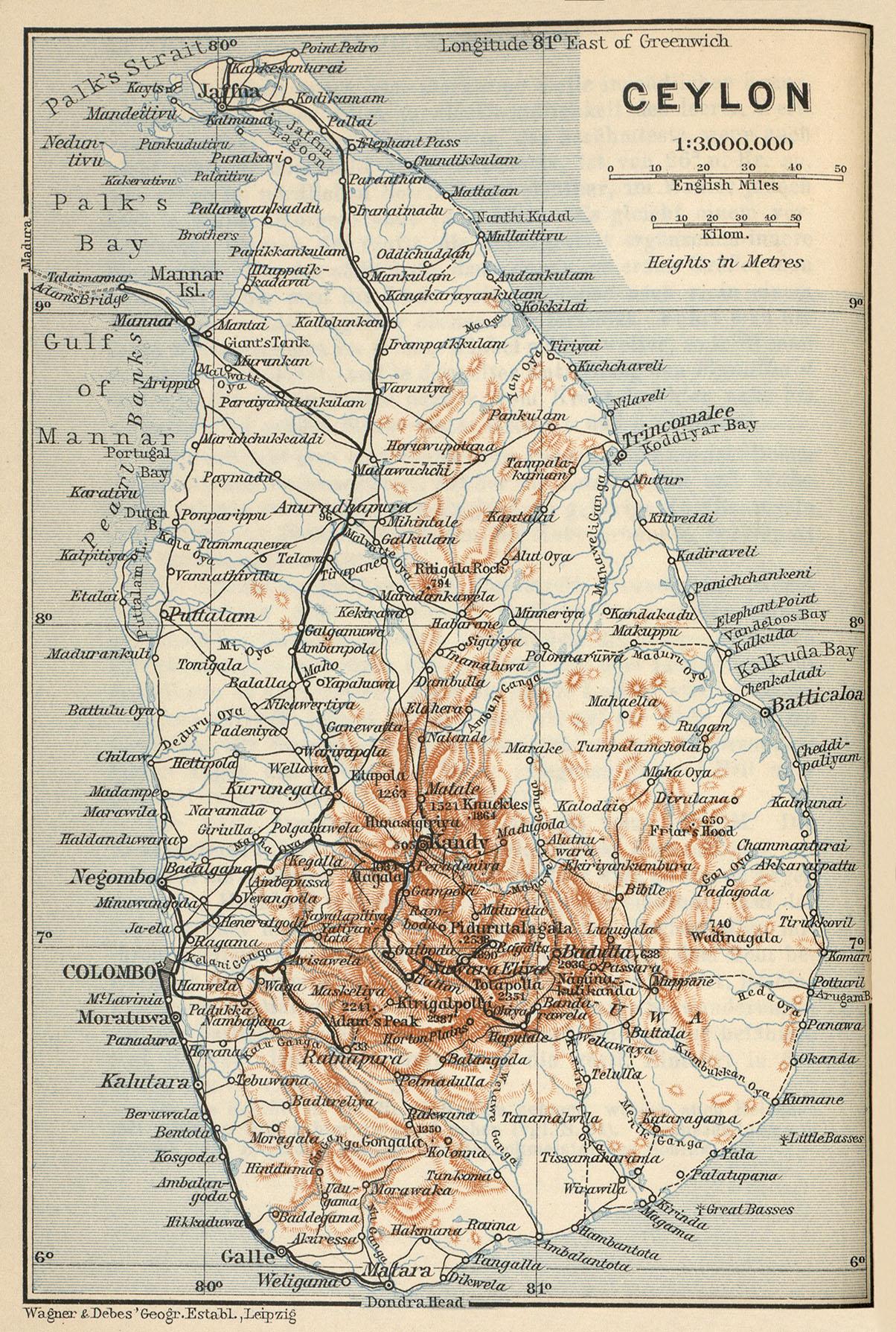 Map Sri Lanka