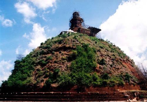 Abhayagiri Dagoba Or Abhayagiri Stupa And Monastery